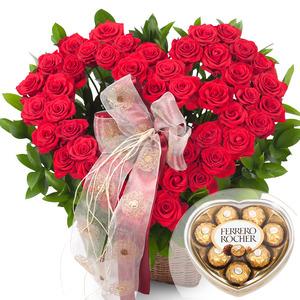 빨강장미하트바구니-2(초콜렛무료증정)