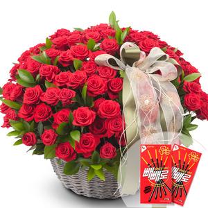 100송이꽃바구니5(빼빼로2개무료증정)